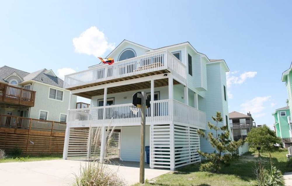 Corolla vacation rental with Sandy Paws