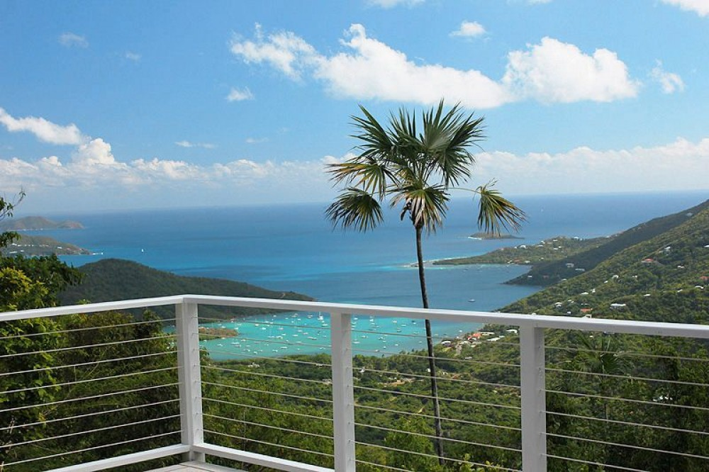 Cruz Bay vacation rental with Aria is blessed with an exceptionally private location that offers stunningly beautiful views of Coral Bay