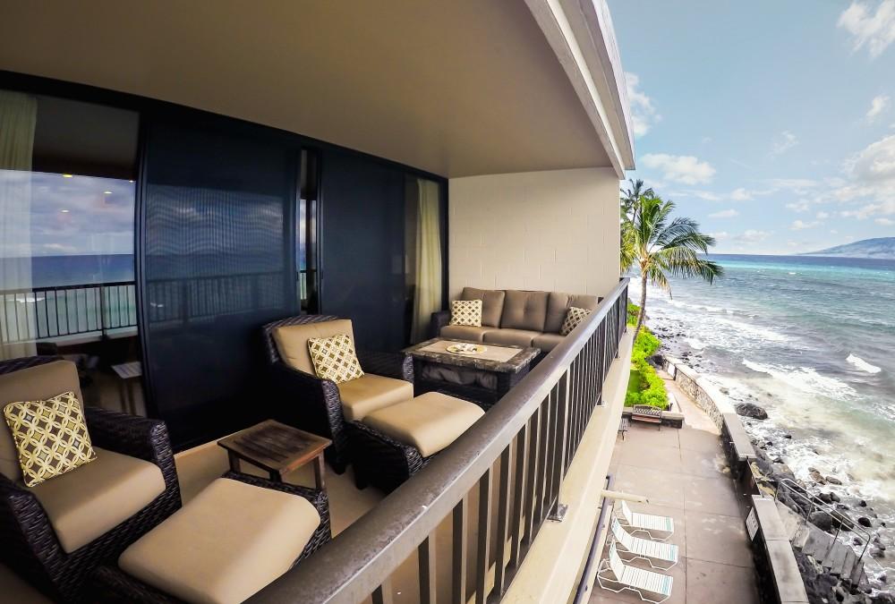 Lahaina vacation rental with Beautiful 1 Bedroom 1 Bath Oceanfront Condo at Maui Kai Ka anapali Beach 304
