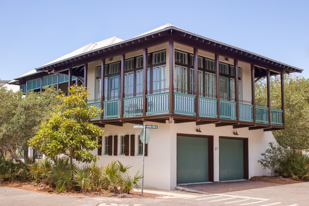 Rosemary Beach vacation rental with Front shot of Beau Soleil