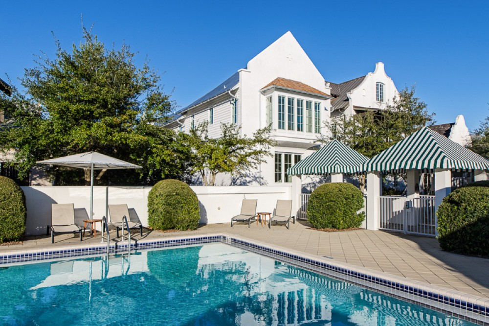 Rosemary Beach vacation rental with Front of Easy Peasy from the Cabana Pool