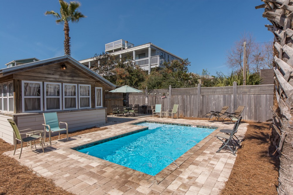 Santa Rosa Beach vacation rental with Private pool with large fenced in backyard