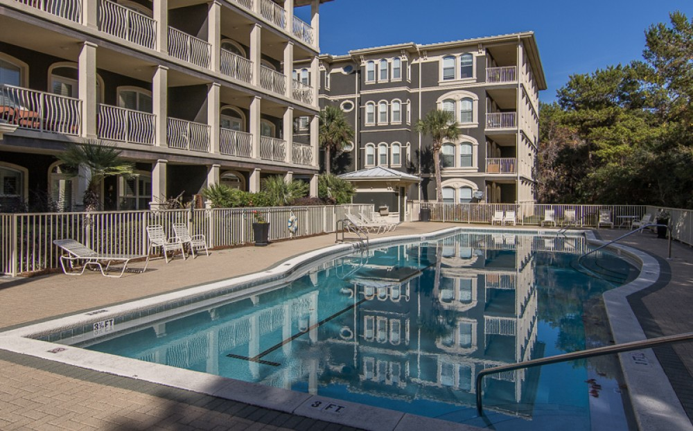 Santa Rosa Beach vacation rental with Community Pool  2nd floor unit on the right building is  Seagrove Orange