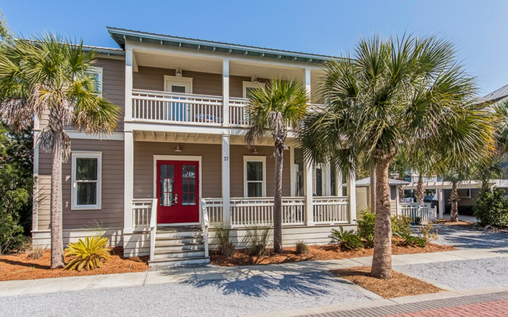 Seacrest Beach vacation rental with Front shot of 37 Lifeguard Loop