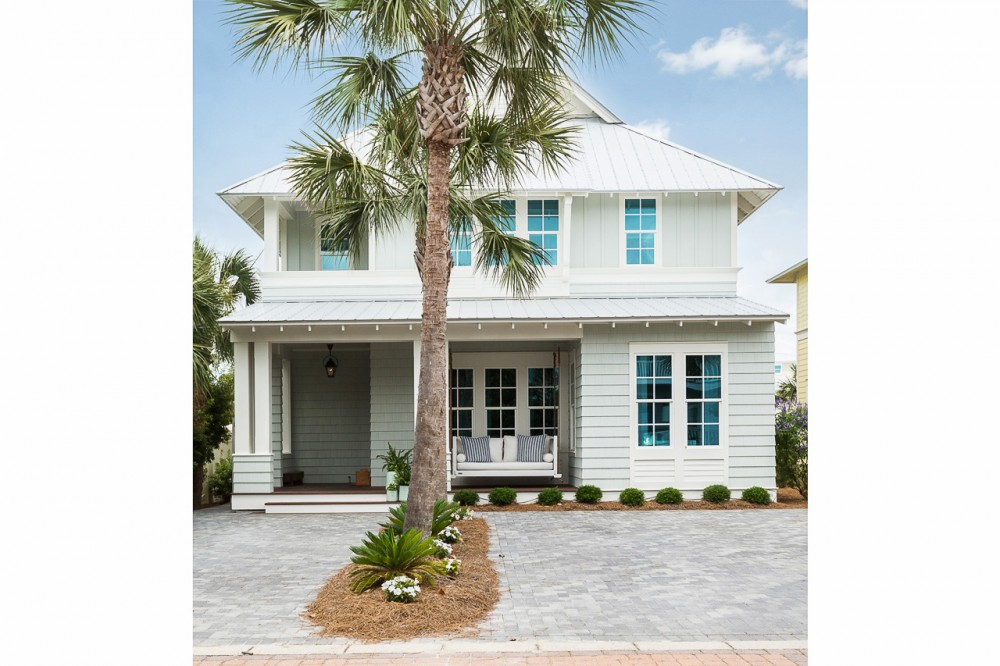 Santa Rosa Beach vacation rental with The front of  The Sugar Palm House