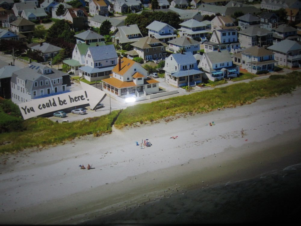 Hull vacation rental with Aerial Beach view of house