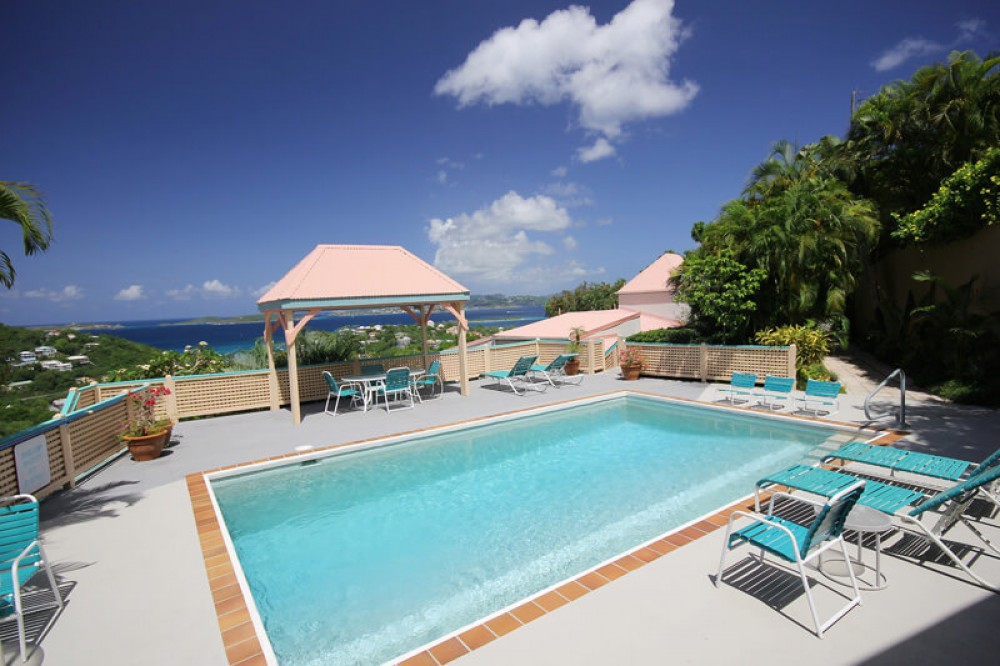 Cruz Bay vacation rental with The pool at Cruz Views is only shared by 10 condo's. Come enjoy a swim!
