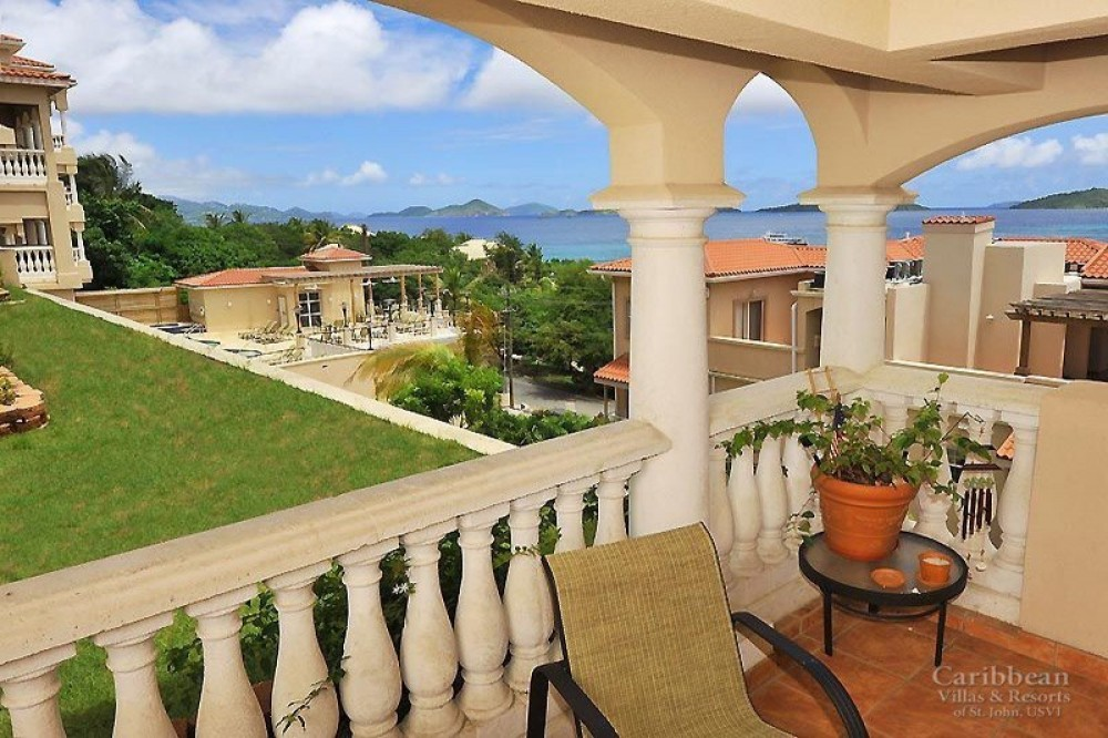 Cruz Bay vacation rental with Your west facing view from your balcony, looking towards St. Thomas