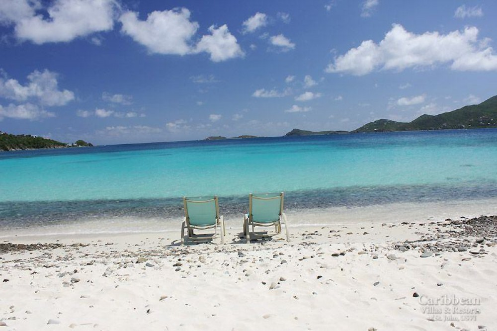 Coral Bay vacation rental with Your front yard – the turquoise waters of the Caribbean are 50ft. from your deck