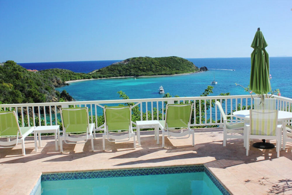 Cruz Bay vacation rental with Orchid Villa has a very picturesque view overlooking Klein Bay