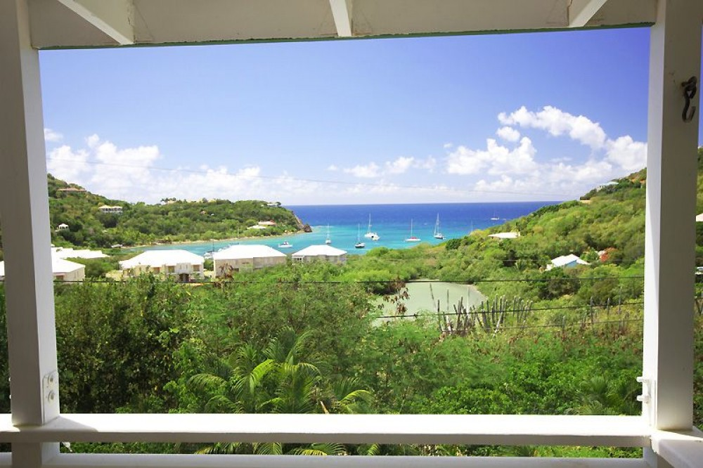 Cruz Bay vacation rental with Your view from the upper deck