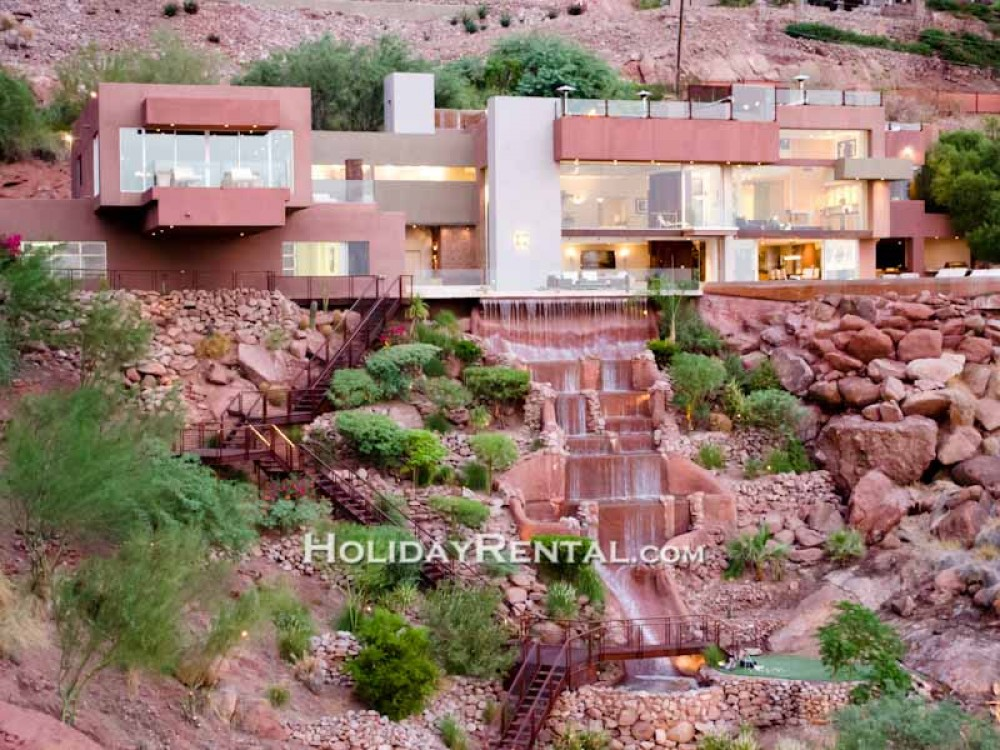 Phoenix vacation rental with View of the waterfall right off the home