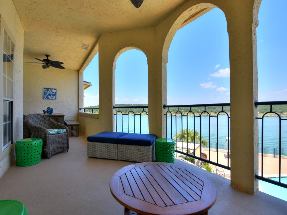 Leander vacation rental with Your view while sitting on the outdoor sofa on this INCREDIBLE Balcony