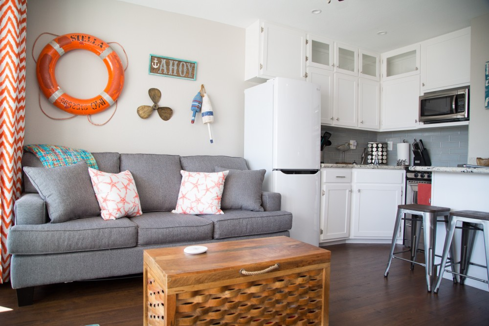 Galveston vacation rental with Completely designed for the guest in mind  Fully stocked kitchen and a queen sleeper sofa  Bonus- TONS of games in the chest