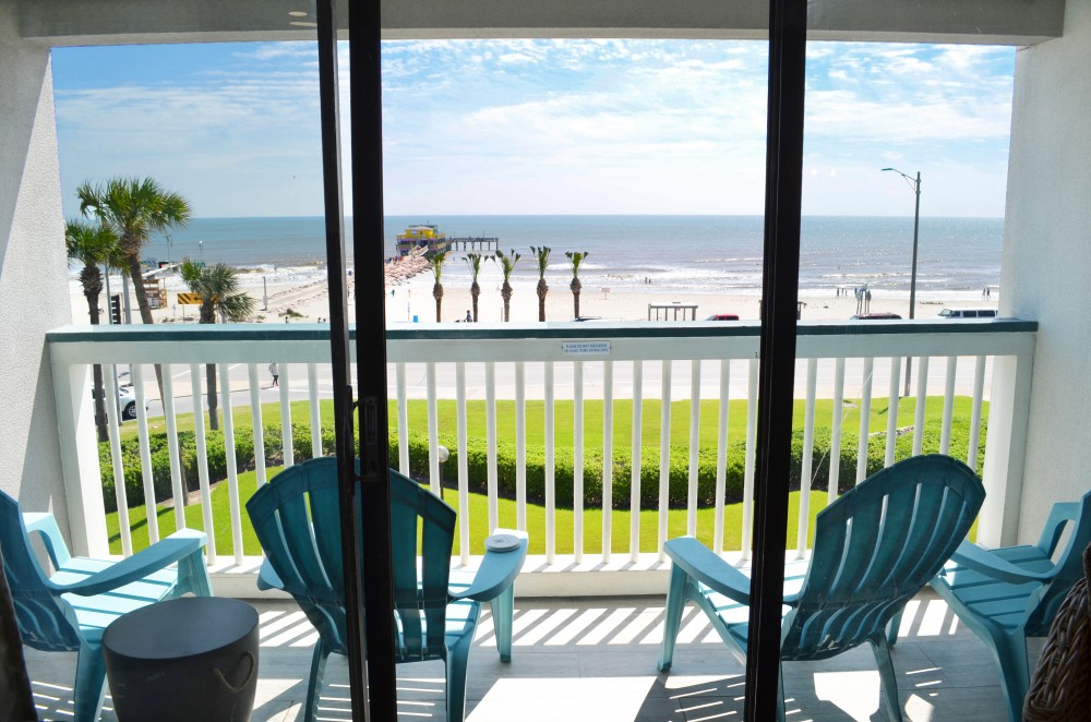 Galveston vacation rental with Enjoy this top floor front row view  See the ocean as soon as you walk in the front door  Amazing view in an incredible new condo