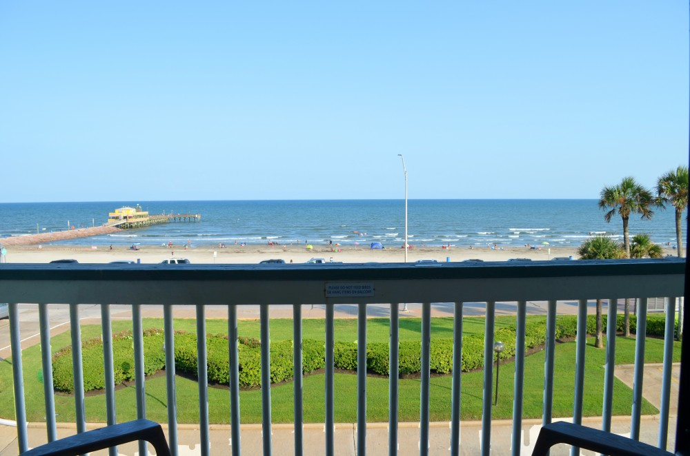 Galveston vacation rental with View right from your balcony  See it the moment you walk in the front door
