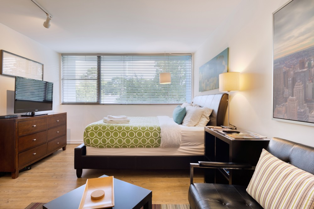Atlanta vacation rental with Furnished Living Room and Bedroom - Corporate Apartments - Studios On 25th