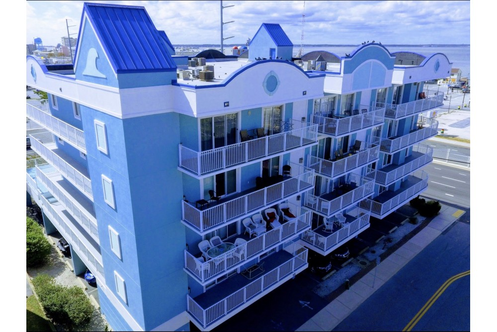 Ocean City vacation rental with View of building from 51st street