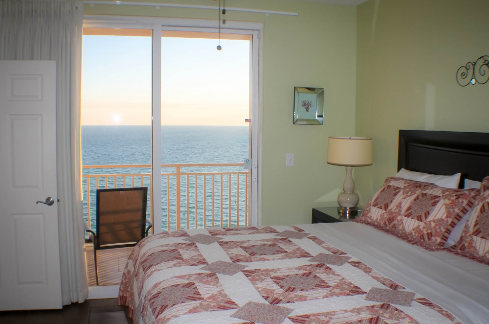 Peaceful master bedroom with king size bed . Panama City Beach vacation home