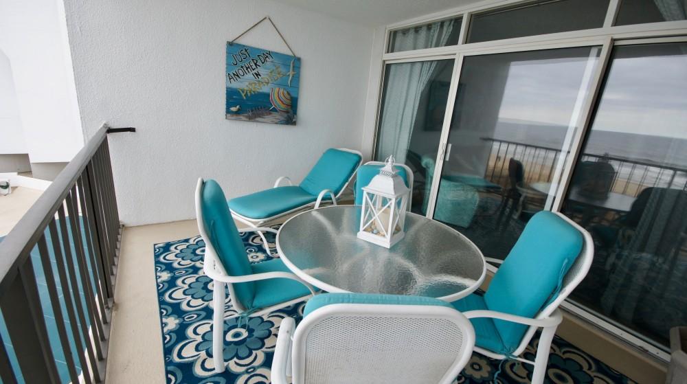 Ocean front patio Ocean City vacation home