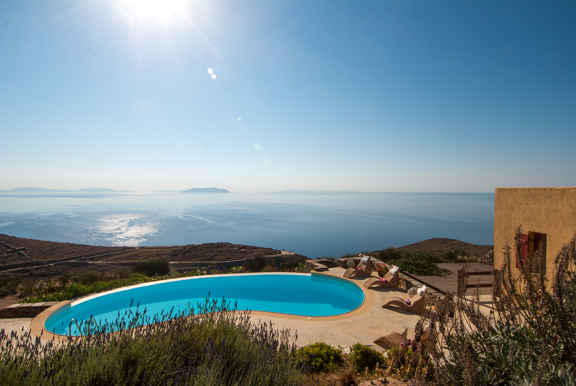 Villa Als Marmarei, soul relaxing infinity. Spectacular sunrises and the infinite blue sea