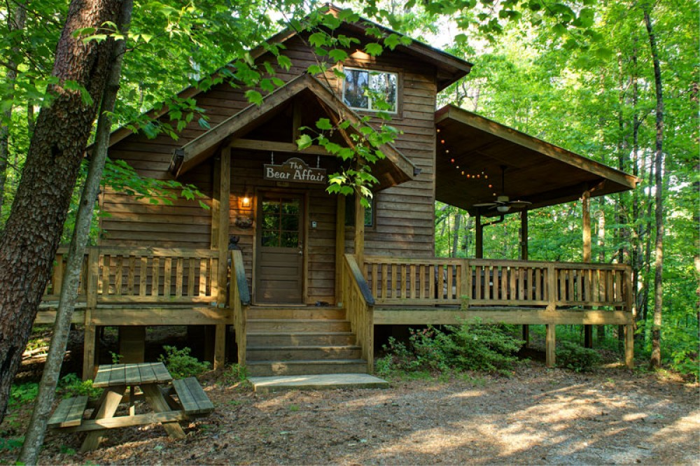 Sautee Nacoochee vacation rental with Back View of the cabin