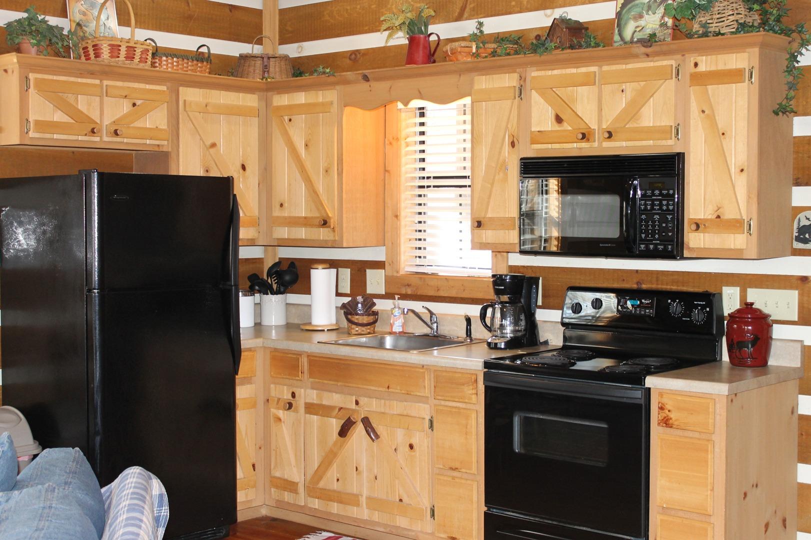 Kitchen Area Airbnb Alternative helen Georgia Rentals