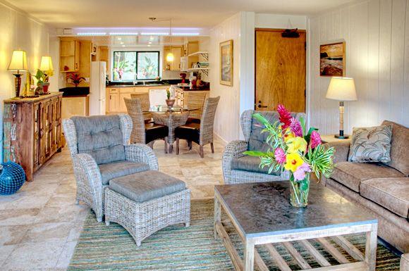 Wonderful Poipu Retreat Recently Refurbished Two Bedroom and Two Bath
