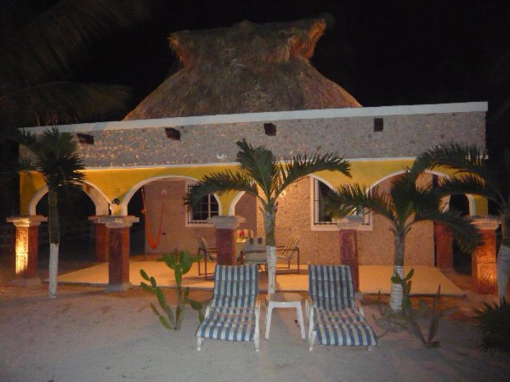 El Cuyo vacation rental with Hacienda Antigua by night