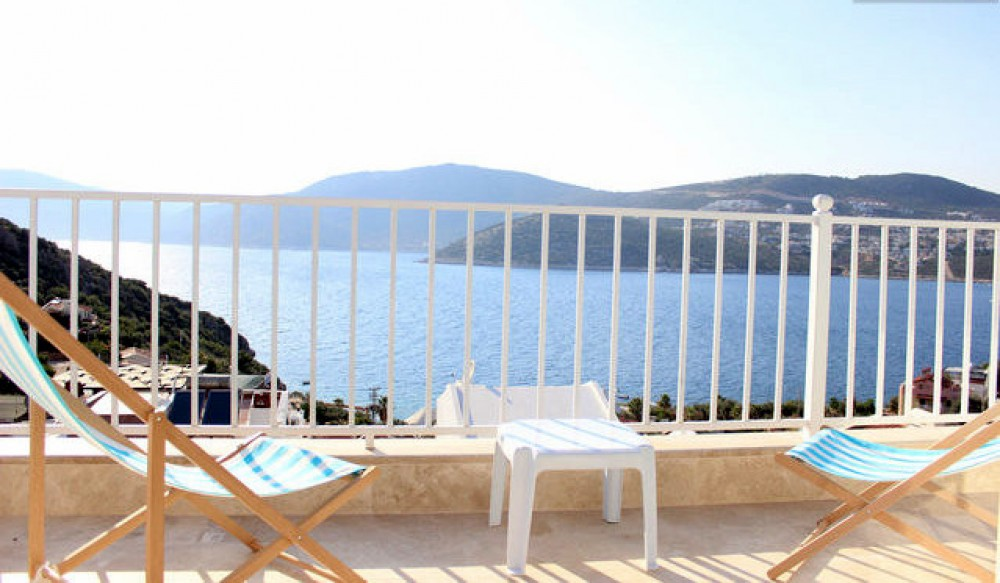 Kalkan vacation rental with stunning views from the terrace